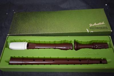 Vintage Bakerlite Dolmetsch Tenor Recorder in original box