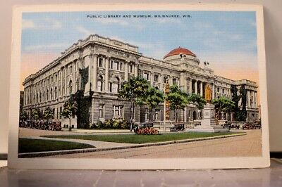 Wisconsin WI Milwaukee Public Library Museum Postcard Old Vintage Card View Post
