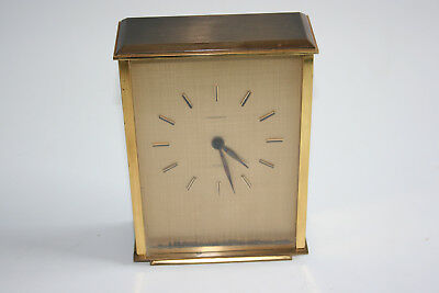 PRESIDENT Brass Mantle Clock - Germany Made - Working