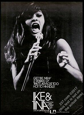1971 Tina Turner GREAT large photo What You Hear Is What You Get trade ad