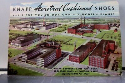 Ad Knapp Aerotred Cushioned Shoes Mfg Corp Postcard Old Vintage Card View Post