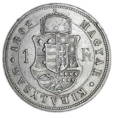 HUNGARY coin 1 FORINT 1892.
