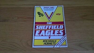 1984-85 Sheffield Eagles v Rochdale Hornets - First Ever game in League