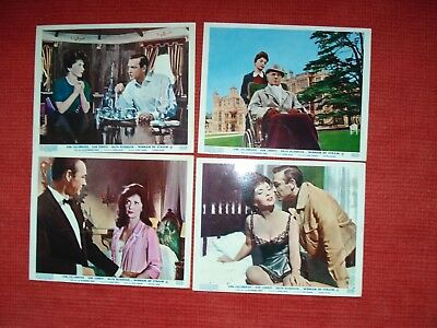 Woman Of Straw-Ultra Rare Uk Lobby Set Of 8 Foh-Sean Connery-Gina Lollobrigida
