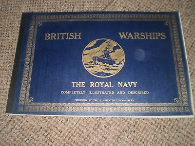 1940 British Warships Softcover Fully Illustrated Large Format Book London News