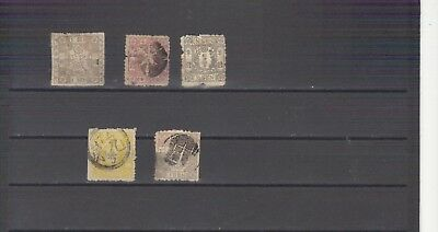 Japan 5 Pre 1900 Used Stamps Good To Very Good Condition