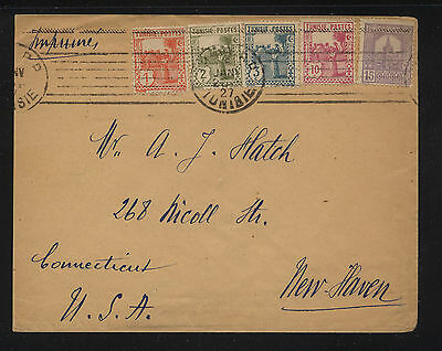 Tunisia nice  franking cover to US   1927   KL0706
