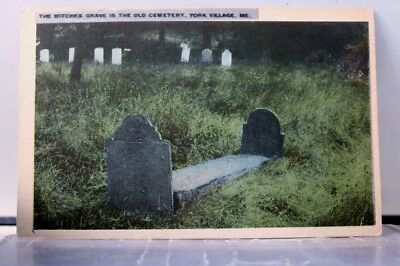 Maine ME York Village Cemetery Witches Grave Postcard Old Vintage Card View Post