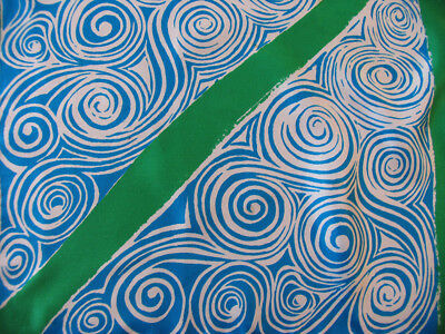 Vera Neumann Silk Scarf Ladybug HandrolledTeal Swirls Kelly Green Stripes Preppy