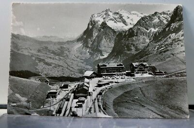 Switzerland Scheidegg Wetterhorn Postcard Old Vintage Card View Standard Post PC
