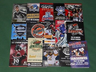 2017-18 Junior & Minor League Hockey Schedule Lot 40 SKEDS AHL ECHL USHL NAHL+++