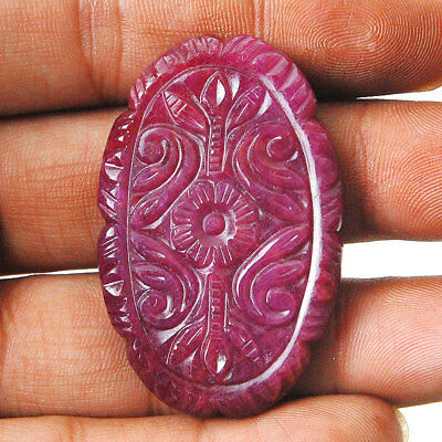 115 Cts IGLI Certified Natural Unheated/Untreated Ruby AAA Moghul Carving Work
