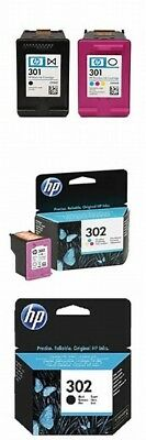 HP 302 Black x 4 used:302 Colour x 2 used:301 Black not used:301 Colour not used
