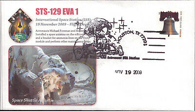 2009 Space Shuttle Discovery STS-129 ULF3 ISS Assembly EVA-1Houston 19 Nov