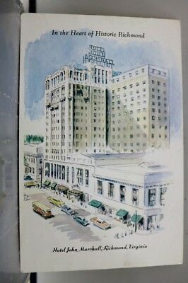 Virginia VA Richmond Hotel John Marshall Postcard Old Vintage Card View Standard