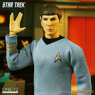 Mezco One 12 Collective Star Trek Mr. Spock 6 Inch Scale Action Figure New