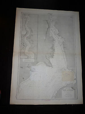Carte Ancienne Navigation Marine Australie Golfe De Spencer Port Augusta