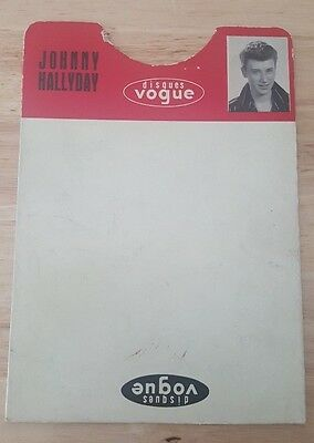 Rare French Original Record Divider Vogue For Johnny Hallyday From 1960
