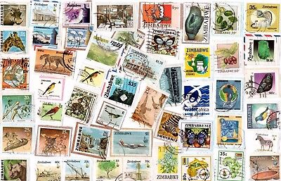 A  Fresh New Selection Of Kiloware Stamps From Zimbabwe