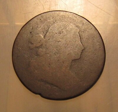 1802 Draped Bust Large Cent Penny - Well Worn Condition - 74SU