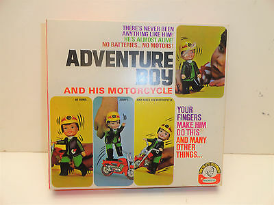1970 Remco Finger Ding Adventure Boy And His Motorcycle New In Box