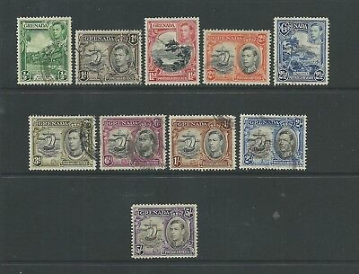 Grenada 1938-50 short set to 5/- SG153-62 good to fine used, Cat.£14.