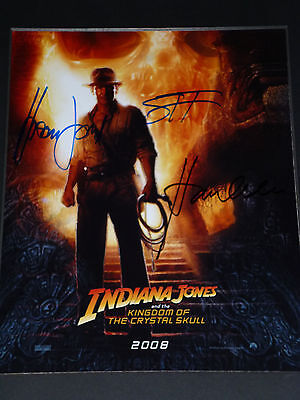 Harrison Ford Signed ' Indiana Jones ' + Karen Allen & Shia Labeouf, With Coa
