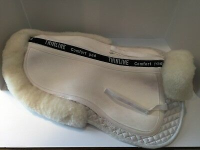 Thinline Ultra Trifecta Half Pad with Sheepskin Rolls Saddle Pad