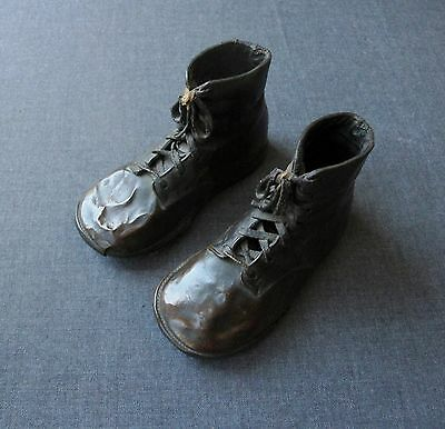 Vintage Bronze Dipped Small Booties Shoes