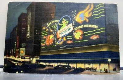 New York NY Wrigley Sign Times Square Postcard Old Vintage Card View Standard PC