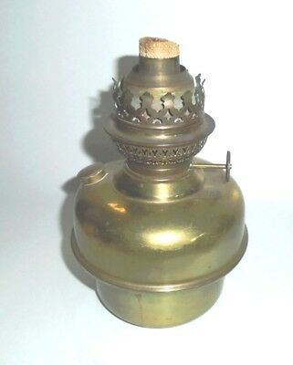 Vintage Brass French Kerosene Oil Harp Lamp Insert