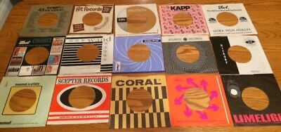 Lot of 15 45rpm RECORD COMPANY SLEEVES IN EXCELLENT COND - SCEPTER, COLPIX +++