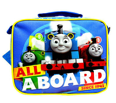 "THOMAS TRAIN & FRIENDS TANK ENGINE ""ALL ABOARD"" LUNCH BAG Lunchbag Box Tote NEW!"