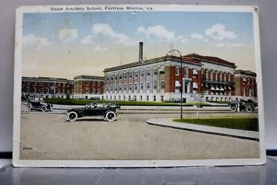 Virginia VA Coast Artillery School Fortress Monroe Postcard Old Vintage Card PC