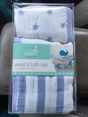 aden by aden anais 3 Pack Dashing Washcloth Sets