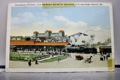 Maine ME Railroad Station Orchard House Beach Postcard Old Vintage Card View PC