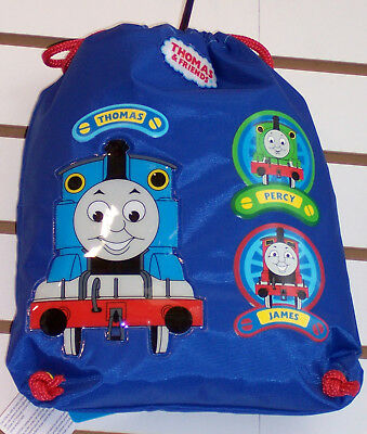 THOMAS TRAIN & FRIENDS TANK ENGINE Percy James SLING String BACKPACK Bag Tote