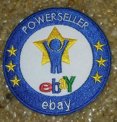 POWERSELLER eBay Patch Large Round NEW
