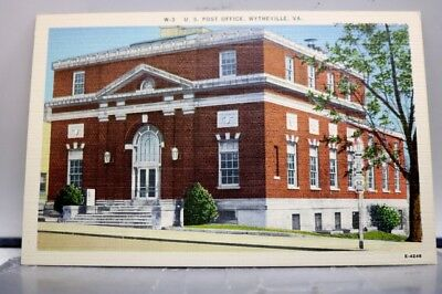 Virginia VA Post Office Wytheville Postcard Old Vintage Card View Standard Post