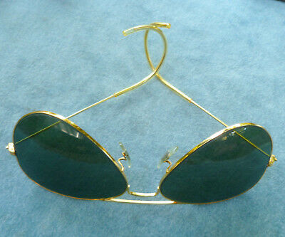 Bausch & Lomb Ray Ban Aviator Sun Glasses USA Vintage Cable