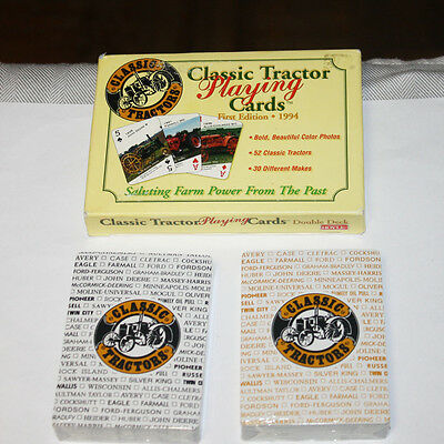 Hoyle Classic Tractor Playing Cards Double Deck