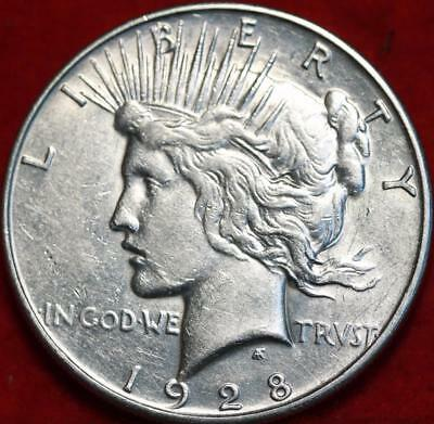 Uncirculated 1928-S San Francisco Mint Silver Peace Dollar Free S/H