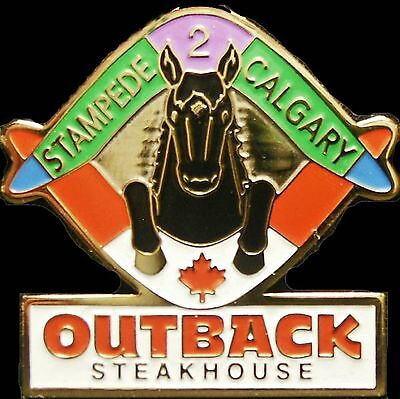A6102 Outback Steakhouse Stampede 2 Calgary hat lapel pin