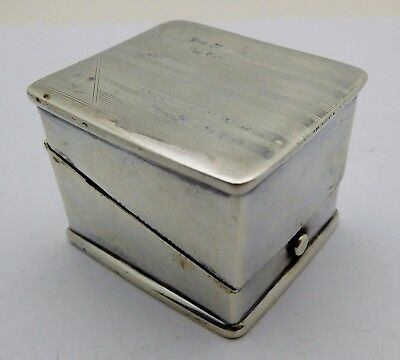 Vintage ENGLISH Sterling Silver Ring Holder Box