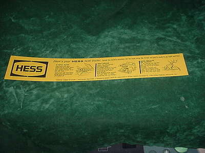 Directions  Replacement Parts 1964  Hess Battery Card Toy Trucks  Collectibles