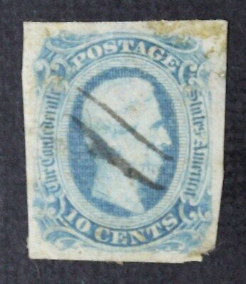 CKStamps: US Confederate States Stamps Collection Scott#12 Used Tiny Thin