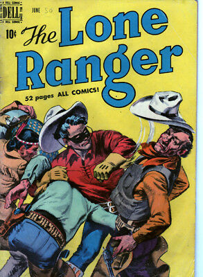 Lone Ranger 24 (1950) 52 Pages! Painted Cover! Complete And Collectable!