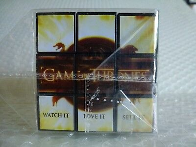 gAME OF THRONES HBO GO RUBIK'S CUBE MERCHANDISE SEALED BINGE WATCH ADVERTISING