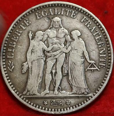 1873-A France 5 Francs Silver Foreign Coin Free S/H