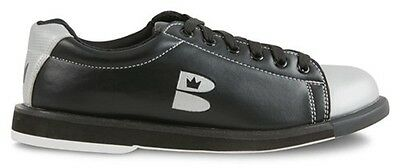 Boys Brunswick TZone Bowling Shoes Color is Black & Silver Sizes 1 - 6